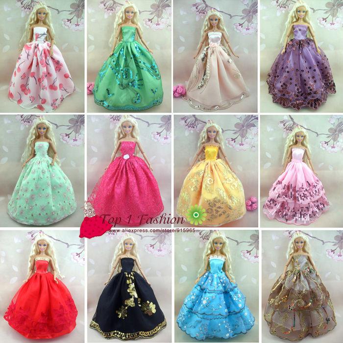 Baby flicka barn födelsedagspresent 5st klänning Dolls bröllop - Dockor och tillbehör - Foto 5