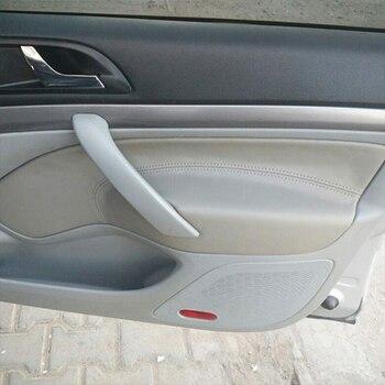 Dla Skoda Octavia 2007 2008 2009 2010 2011 2012 2013 2014 z przodu/tył para klamka do drzwi samochodowych Panel podłokietnik skóra z mikrofibry pokrywa