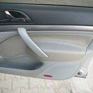 Image 1 - For Skoda Octavia 2007 2008 2009 2010 2011 2012 2013 2014 Front/Rear Pair Car Door Handle Armrest Panel Microfiber Leather Cover