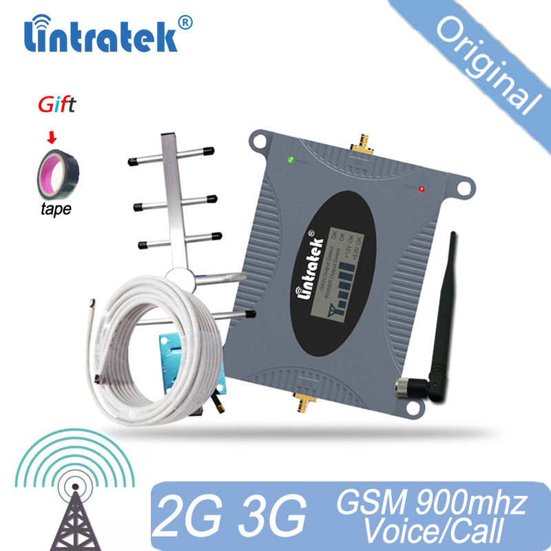 Lintratek 2G GSM Signal Booster 900mhz Cellular Repeater 65dB Cell Phone Signal Amplifier Amplificador+ Yagi Antenna Russia 15
