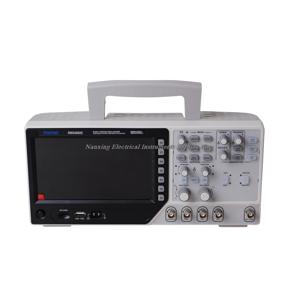 Hantek DSO4072C DSO4102C DSO4202C Digital Storage Oscilloscope 2CH 70-200MHz,1 Channel Arbitrary/Function Waveform Generator image