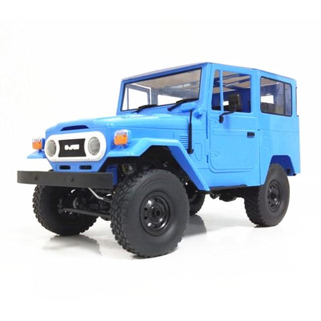Kit WPL C34K 1:16 2,4G 4WD inalámbrico para niños sin batería ESC camión de escalada de cuatro ruedas transmisor cargador RC Coche