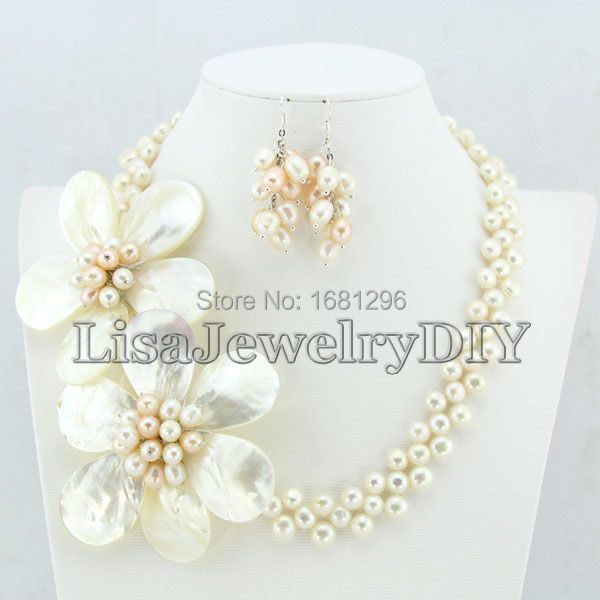 Freshwater Pearl Jewelry Sets Freshwater Pearl Necklace Earrings Sets Wedding Jewelry Sets  HD1506Freshwater Pearl Jewelry Sets Freshwater Pearl Necklace Earrings Sets Wedding Jewelry Sets  HD1506