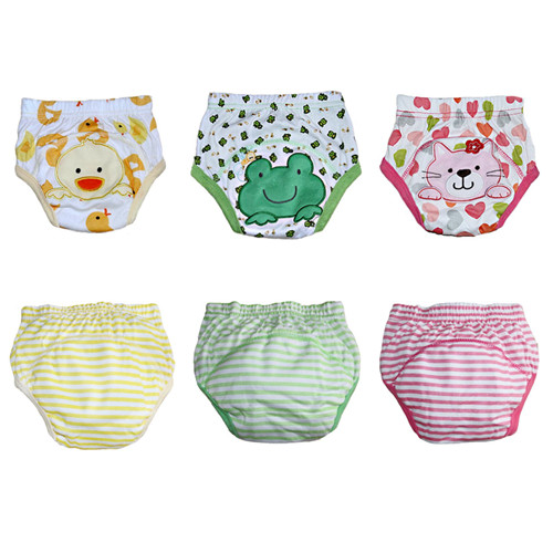 2pcs Lot 4 Layers Kid Underwear Baby Training Pants Reusable Nappy Cover Washable Diapers ZY03