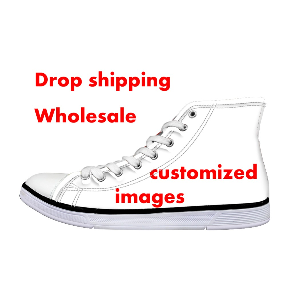 Canvas High Top Sneaker Casual Skate Shoe Boys Girls Poisonous Pirate Skulls Stripes