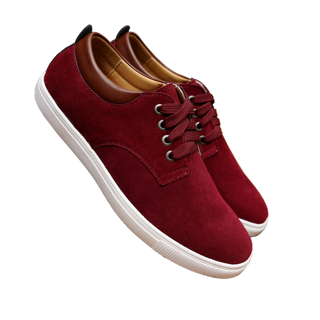 Nubuck moda de Talla grande de Cuero Genuino de Los Hombres Zapatos Cómodos Transpirable Plana de cuero Para Hombre Zapatos de Los Planos Ocasionales de Gran Tamaño 46 47 48 49