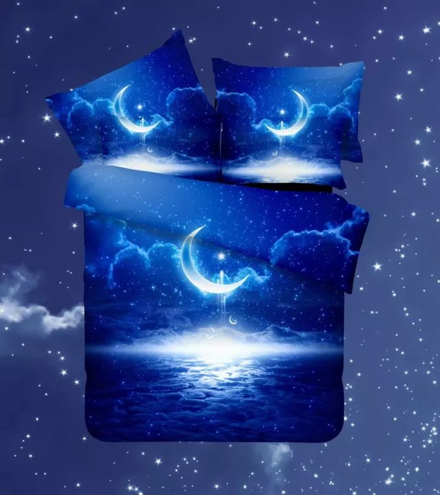 3d galaxy bedding sets twin queen size universe outer for 3d outer space
