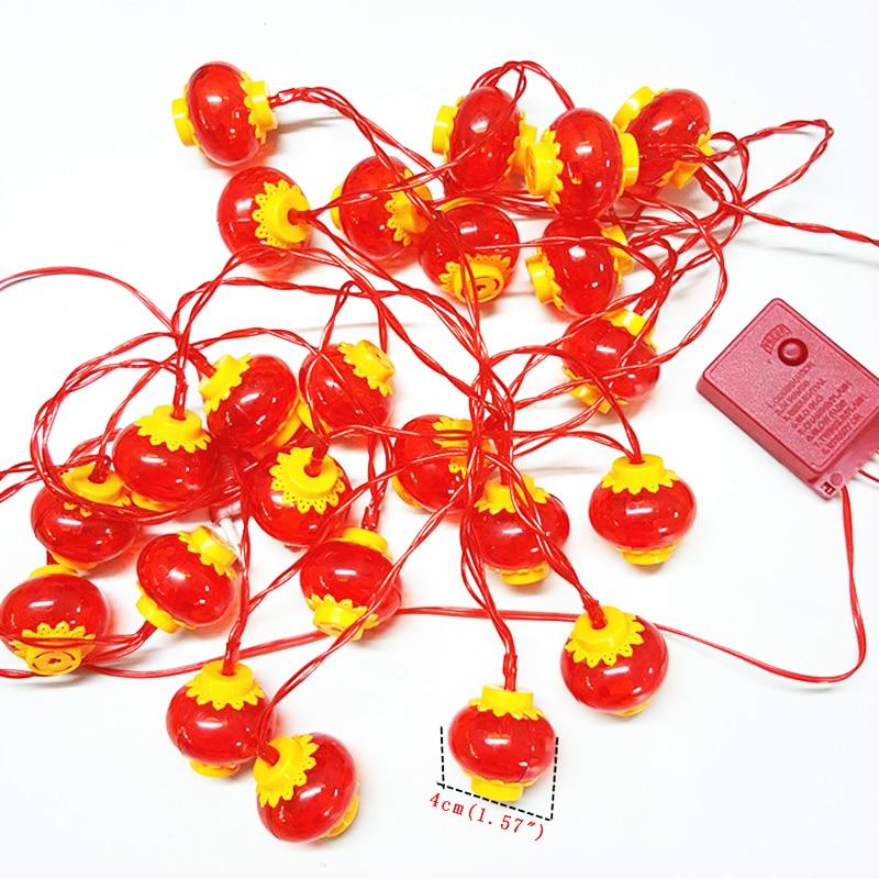 Китайский красный фонарь герлянда светодиодные фонари украшения светодиодные струнные огни рождественская гирлянда новый год праздник декоративные огни