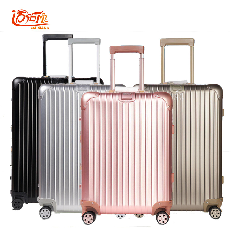100 Full Aluminum Rolling Luggage Travel Suitcase Koffers Trolleys Vintage In From Bags On