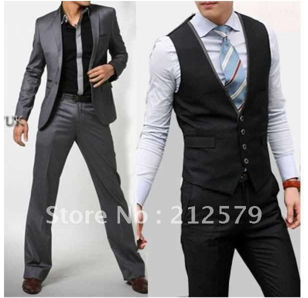 free shipping men's suit college style suits fashion casual ONE ...