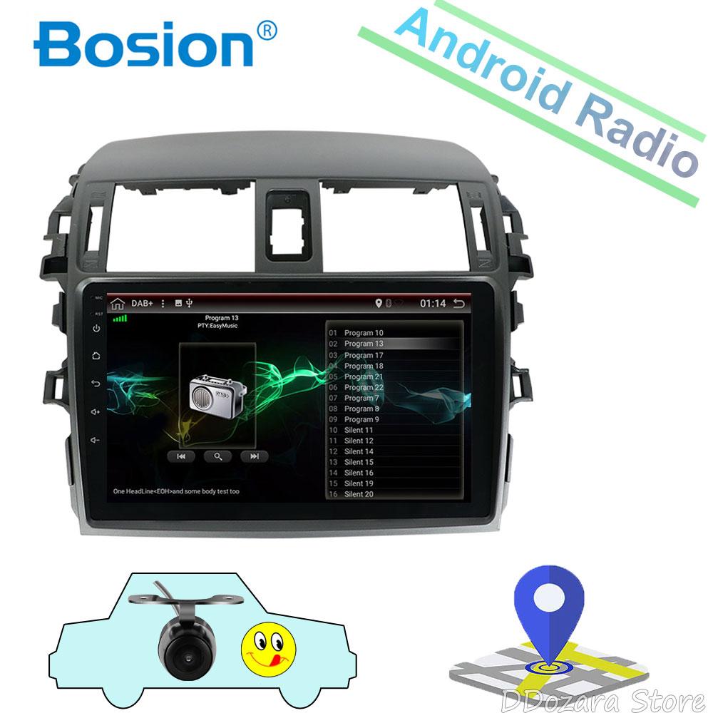 2 din android 7.1 car radio gps navigation for Toyota corolla 2007 2008 2009 2010 2011 2012 car dvd radio gps stereo