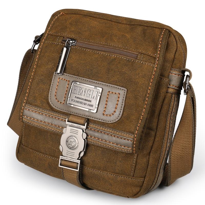 ผ้าใบกระเป๋ากระเป๋าไหล่ชายสวมใส่สบายทนย้อนยุคเอกสารกระเป๋าสีดำแฟชั่นลำลองกระเป๋า-ใน กระเป๋าสะพายข้าง จาก สัมภาระและกระเป๋า บน AliExpress - 11.11_สิบเอ็ด สิบเอ็ดวันคนโสด 1