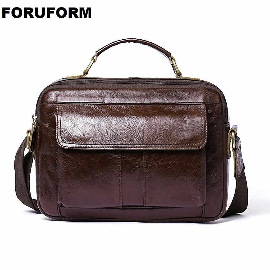 Genuine Leather Shoulder Bags Fashion Men Messenger Bag Small ipad Male Tote Vintage New Crossbody Bags Men's Handbags LI-2216 zznick genuine leather shoulder bags fashion men messenger bag small ipad male tote vintage new crossbody bags men s handbag