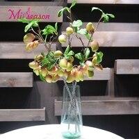 Miiseason 10 Frutas Decoración de Flores Flores Artificiales 58 cm Hojas de Mango Fruta fake Plantas de interior Planta Decorativa de la Boda en Casa