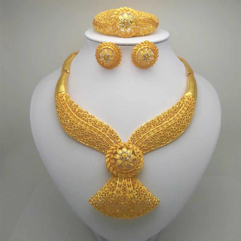 ממלכת Ma שרשרת/עגיל/טבעת/צמיד תכשיטי סטי הודו נשים מתנות אפריקאיות כלה מתנות חתונה אפריקאית חרוזים תכשיטי סטים