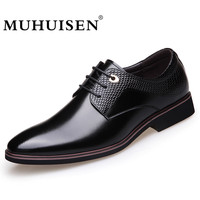 MUHUISEN Hot Sale 2018 Fashion Men Casual Shoes Spring Autumn Men S Flats Lace Up Male