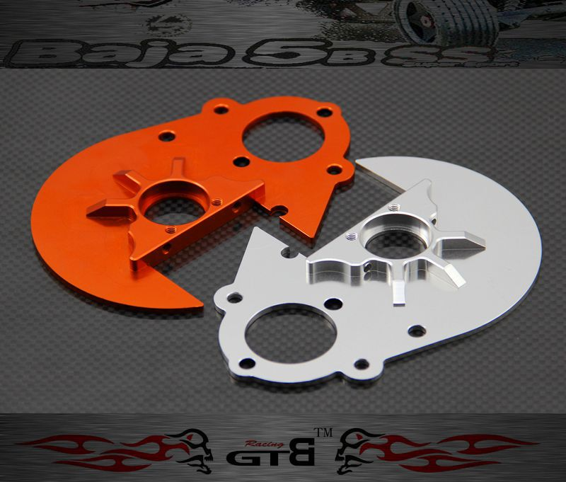 GTBracing GEAR PLATE FOR hpi km rv baja 5b ss 5t 5sc GR059 gtbracing gtx5 body shell transparent and silver color for hpi km rv baja 5b ss gy009
