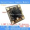 1 0MP 1280 720P AHD CCTV 3 7mm Pinhole Camera Module Circuit Board NVP2433H OV9732 1000TVL