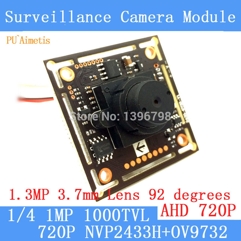 PU`Aimetis 1.0MP 1280*720P AHD CCTV 3.7mm Mini Camera Module Circuit Board,NVP2433H+OV9732 1000TVL camera PAL / NTSC Optional pu aimetis 4in1 1000tvl ahd cctv camera module 3mp 3 6mm lens pal or ntsc optional surveillance camera ir cut dual filter switch