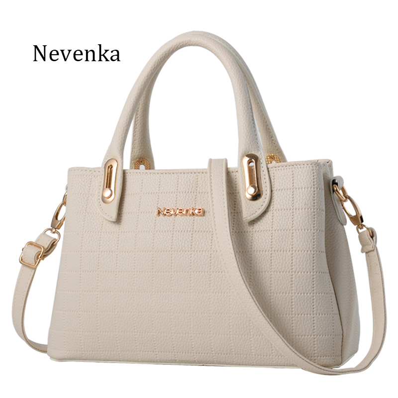 Nevenka Square Veins Women Bag Casual PU Leather Tote Zipper Crossbody Bags Ladi