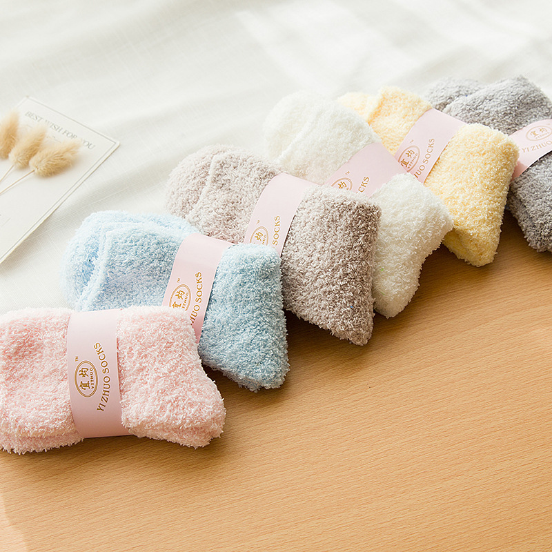 1Pairs Winter Warm Women   Socks   High Quality Soft Towel Warm Fuzzy   Socks   Casual Floor Thermal   Socks   11 Color