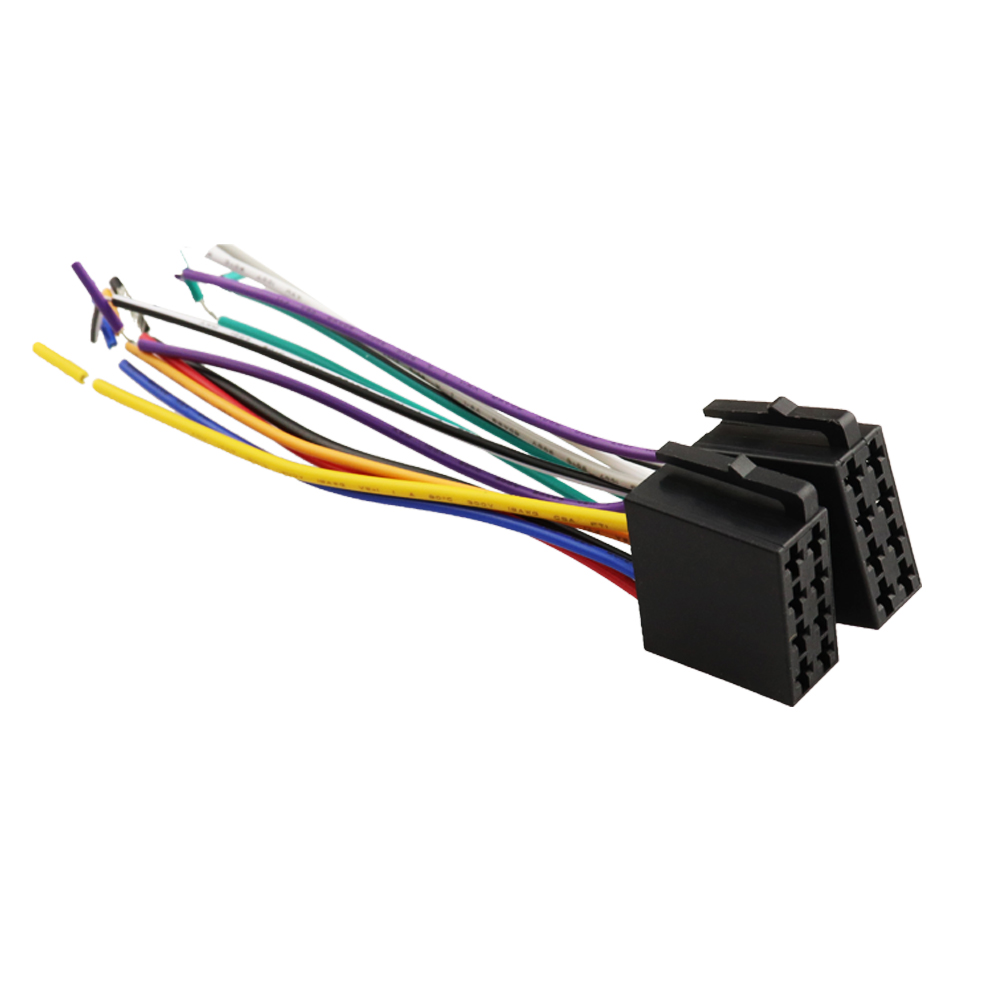 hight resolution of universal female car radio wire cable wiring harness stereo adapter connector adaptor plug power and loudspeaker in cables adapters sockets from