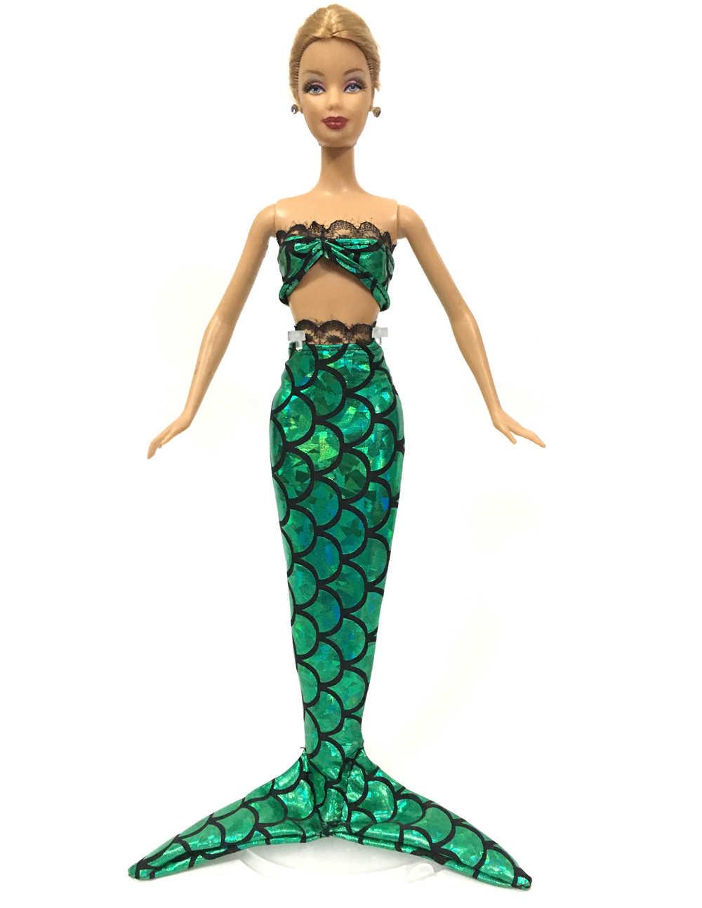NK 2 компл./лот сказочная принцесса Русалка Кукла платье хвост русалки для куклы Барби ребенок любимый подарок лучшая кукла девушки