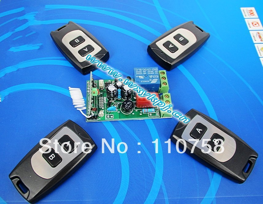 Free shipping 220V 1 CH rf wireless remote control switch system 4 transmitting & 1 Receivers 315mhz 433 MHZ z-wave 2 receivers 60 buzzers wireless restaurant buzzer caller table call calling button waiter pager system