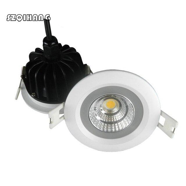 Waterproof LED Downlight IP65 LED Downlight Spot Light 15W/12W Super Bright AC85-265V Recessed Ceiling Lamp