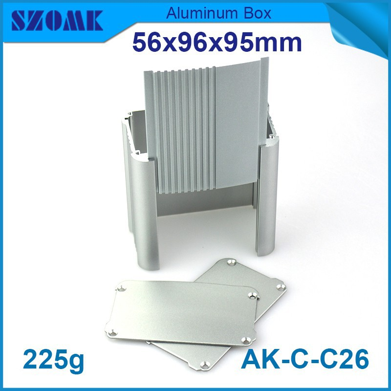 1 piece Grey color aluminium project box which pcb size 49x91mm diy aluminum enclosure high quality and nice suface looking e cap aluminum 16v 22 2200uf electrolytic capacitors pack for diy project white 9 x 10 pcs