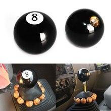Pomo de engranaje de 8 bolas, negro, pomo de palanca de cambios corta para coche Universal, acrílico negro, 8 bolas para