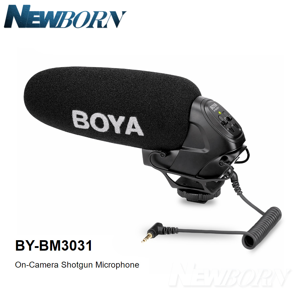 Recorders Video Cameras Enthusiastic Boya By-bm3031 On-camera Microphone Pad Switch: -10db 20db & 3.5mm Input For Dslr Cameras