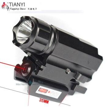 Potente juego de visión láser para disparo de pistola de Rifle linterna táctica de liberación rápida con vista láser de 5mW con linterna táctica