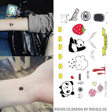 RC-351 Makeup Temporary Tattoo Stickers Cartoon Panda Cloud Femme Fake Flash Taty Tattoo Water Transfer Tatouage
