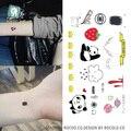 RC-351 2016 Maquiagem Tatuagem Temporária Adesivos Panda Dos Desenhos Animados Nuvem Femme Falso Flash tatouage Taty Tatuagem de Transferência da Água