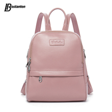 Bostanten Fashion Genuine Leather Backpack Women Bags Preppy Style Backpack Girls School Bags Zipper Shoulder Women's Back Pack