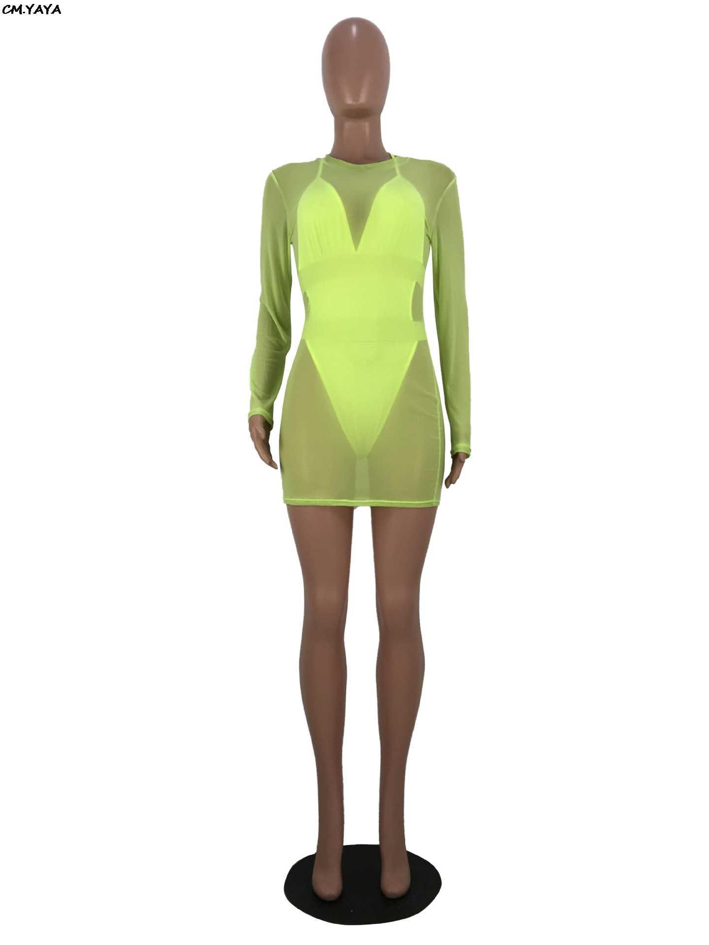 2019 נשים חדשות קיץ o-צוואר mesh לראות אף מיני midi שמלה & ספגטי רצועת v-צוואר בגד גוף שני חתיכה סט אימונית ZH5096