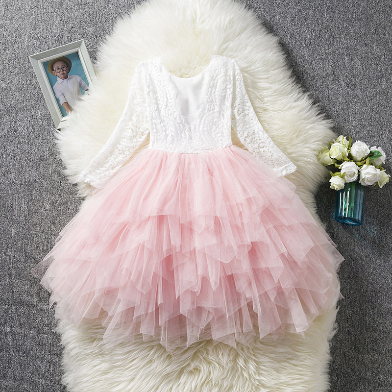 HTB1ho3uaffsK1RjSszgq6yXzpXa6 Children Formal Clothes Kids Fluffy Cake Smash Dress Girls Clothes For Christmas Halloween Birthday Costume Tutu Lace Outfits 8T