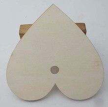 WBNAGW 8CM/10CM/12CM/15CM Love Buttons for wedding party 20pcs nature Rustic wood crafts embellishments