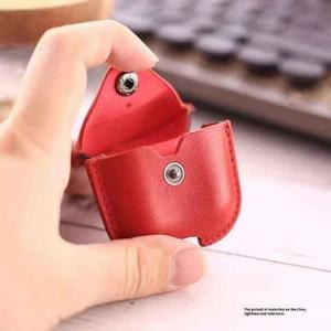 Image 4 - Funda blanda de lujo para Apple Airpods, Funda de cuero de lujo para AirPods 2 pro Earphone 3, funda negra con gancho para llavero