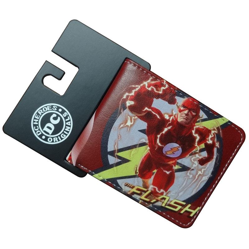 DC Marvel Comics Flash Man Wallets PU Leather Purse Creative Gift Card Holder Bags Animation Short Wallet comics dc marvel wallets green arrow leather purse women money bags gift wallet carteira feminina bolsos mujer de marca famosa