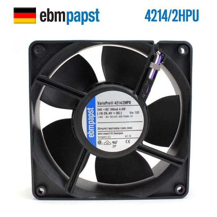 NEW ebmpapst PAPST 4214/2HPU 12038 24V 190mA 4lines PWM waterproof cooling fanNEW ebmpapst PAPST 4214/2HPU 12038 24V 190mA 4lines PWM waterproof cooling fan