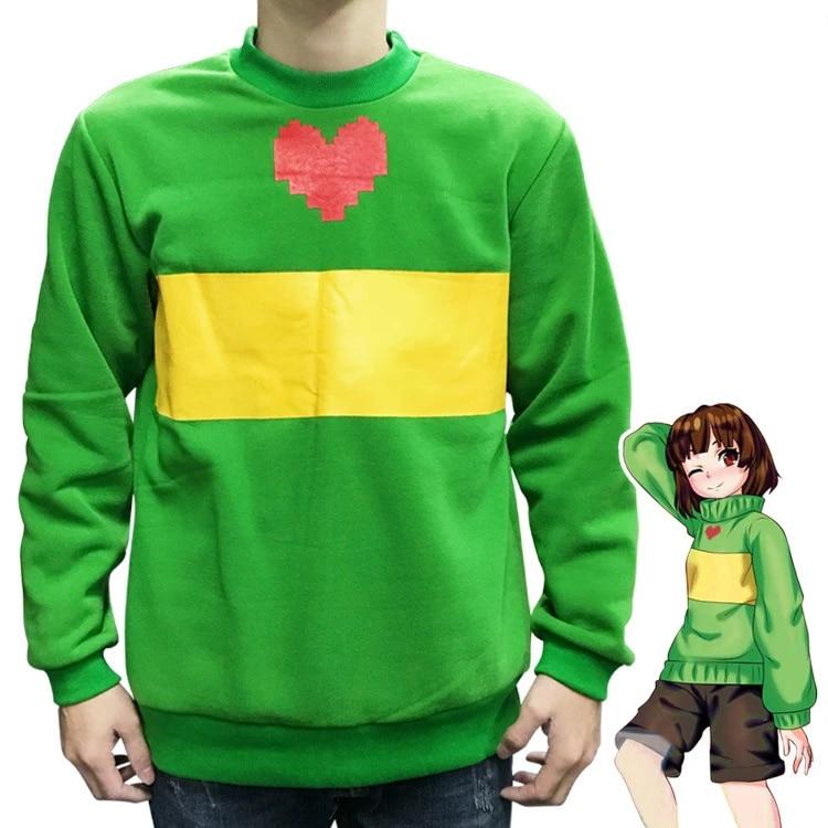 Game Undertale Frisk Hoodie Cosplay Costume Hooded sweater Warm Coat Sweatshirt