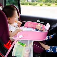 Multi function Car Safety Seat Plate Car Painting Table Baby Eating Table For Children Stroller Car Chair Stroller Accessories