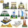 New 3d Architecture Model Kits Briques LOZ Construction Building Bricks Nanoblock Building Diamond Blocks Toys Modelismo