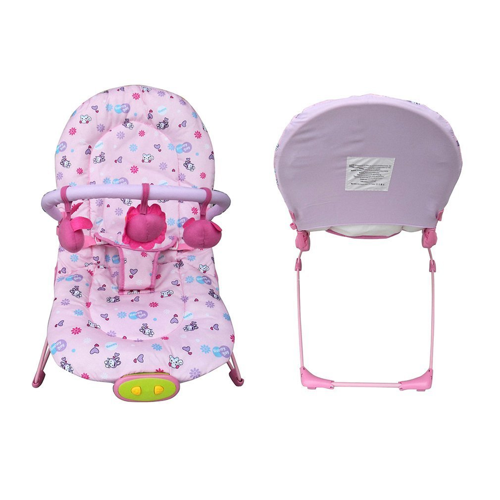 Blooming Flower Baby Cradle Rocking Chair Multifunction Sleeping Plaid Detachable Toys Swing Baby Kids Adjustable Seat Pram 2017 new babyruler portable baby cradle newborn light music rocking chair kid game swing