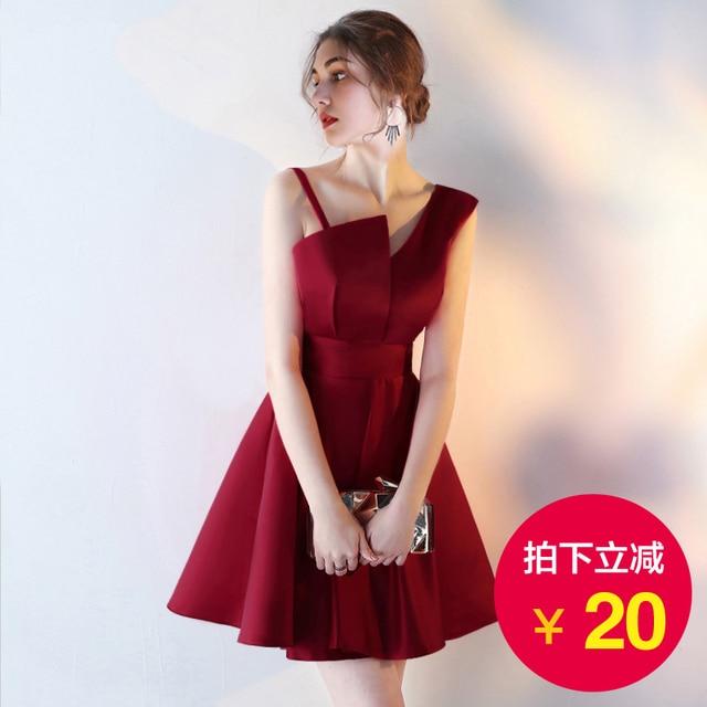 Plisado Simple Cuello Satén Vestidos V Arco De Fiesta Hot Elegante Cintura Girls Baratos Red wqxZaR8Pq