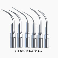6pcs Mixed Dental Scaler Tips Fit EMS Woodpecker Ultrasonic Scaler Handpiece