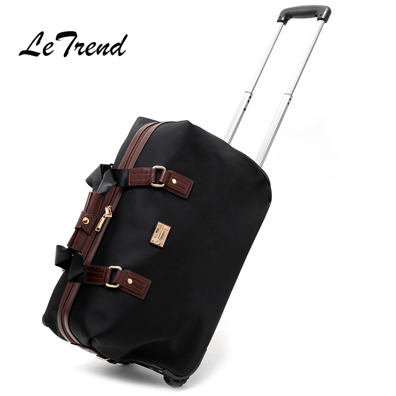 Letrend Men Hand Travel Bag Oxford Trolley Rolling Luggage Castere Women Business large capacity Suitcase Wheels Cabin Trunk top quality trolley luggage bags storage box suitcase bag men travel large capacity pc pull rod trunk women waterproof rolling