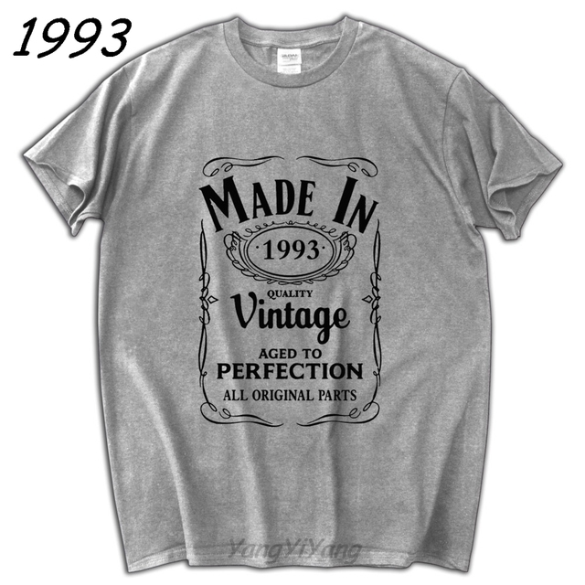 Boy Birthday Gift Tee Made In 1993 T Shirt Born 24th Year Age Present Vintage Funny Gifts Summer Fashion